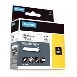"Dymo 18488 RHINO 1/2"" (12mm) White Flexible Nylon Labels"