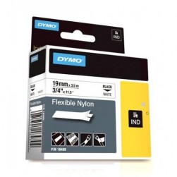 "Dymo 18489 RHINO 3/4"" (19mm) White Flexible Nylon Labels"