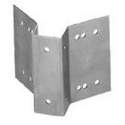 Interlogix 1942-L Chain Link Fence Bracket, 2500 Series, Aluminum, Anodized Finish for 2 1/2 to 4 Posts