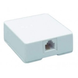 DataComm 20-2012 Color-Rite Surface Block, 4-Conductor, White