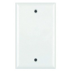 DataComm 21-0022 Blank Mid-Size Wall Plate, White