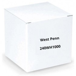 West Penn 240WH1000 4 Conductor 22 AWG Solid Unshielded PVC Jacket Cable, 1000', White