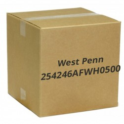 West Penn 254246AFWH0500 8 Conductor 23 AWG Shielded CAT6A CMP Cable, 500', White