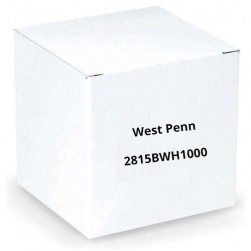 West Penn 2815BWH1000 CCTV + Power Coaxial Cable White 1000 Ft