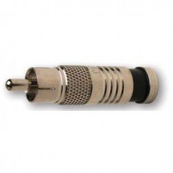 Platinum Tools 28060J RCA-Type RG59 Nickel SealSmart Coaxial Compression Connector. 50pc. Jar