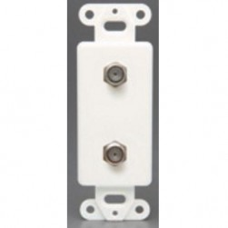 DataComm 30-2322 Decor Dual Coax Wall Plate Insert - White