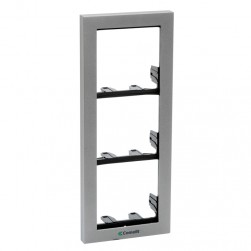 Comelit 3311-3G 3 Modules Frame with Cornice, Grey, Powercom/Ikall Series