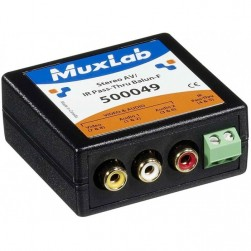 MuxLab 500049 Stereo AV/IR Pass-Thru Balun, Female
