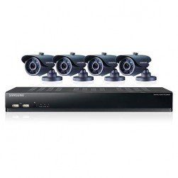 Samsung SDS-V4040 8 Channel DVR, 4 Infrared Bullet Camera Surveillance System - REFURBISHED