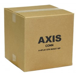 Axis 5505-291 Connector A 4-pin 3.81 Straight In/Out (10-Pack)