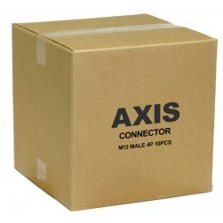 Axis 5502-131 Male M12 4P Connector - 10 Pack