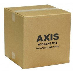 Axis 5502-151 3.6mm Megapixel Lens w/IR Filter for AXIS Cameras, 10pcs