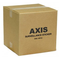 Axis 5502-811 Surveillance Sticker Eng 10PCS
