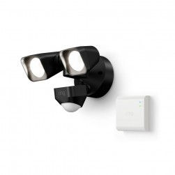 Ring 5W21X8-BEN0 Outdoor Integrated LED Flood Light Wired with Smart Lighting Bridge, Black