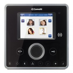 Comelit 6101BM Planux touch screen monitor with memory - Black