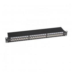 Platinum Tools 675-24C6AS 24 Port Cat6A Shielded Patch Panel