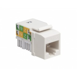 Platinum Tools 726WH-1 Keystone Cat 6 110 Jack, White