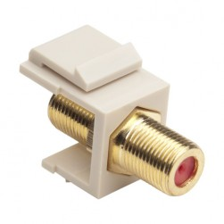 Platinum Tools 780LA-1 Keystone F 3GHz Jack, Light Almond