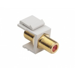 Platinum Tools 780WH-1 Keystone F 3GHz Jack, White