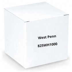 West Penn 825WH1000 Solid MiniMax CCTV Coaxial Cable White 1000 Ft
