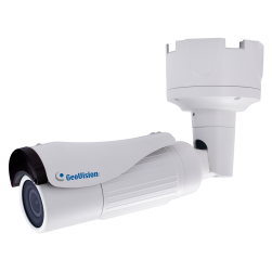Geovision 84-BL47130-0010 4 Megapixel Network IR Outdoor Bullet Camera, 2.8-12mm Lens