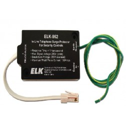 ELK 952 In-Line Telephone Surge Protector For Security Controls
