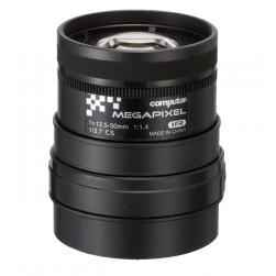 Computar A4Z1214CS-MPIR 3MP Manual Iris Varifocal IR Lens, 12.5-50mm