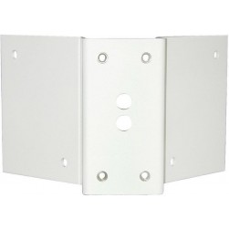 Moog ACA2W Aluminum Corner Mount Bracket with Female Inserts, White
