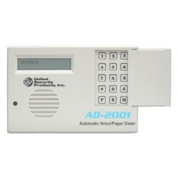 United Security Products AD2001 Auto Voice Dialer with 2 VMZ's - 2 input channels - Calls 4 Numbers