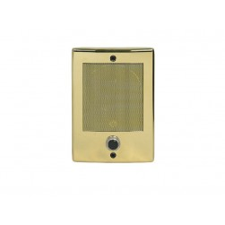 Linear BD3BN Intercom Door Station with Bell Button Bright Brass