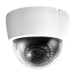 Cantek Plus CTP-TLV29AD 1080p HD-AHD/Analog Outdoor IR Dome Camera, 2.8-12mm Lens, White