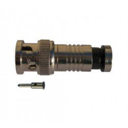 SecurityTronix CT-BNC59C Compression BNC Male Connector for RG-59 Coaxial Cable, 2 Piece