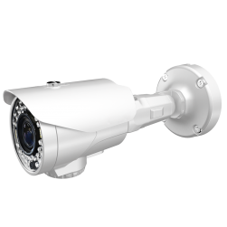 Cantek Plus CTP-TV29AB-W 1080p IR Outdoor Bullet Camera, 2.8-12mm Lens, White