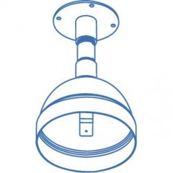 Interlogix DR-EP Extendable Pendant Mount for UltraView Rugged Domes
