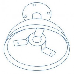 Interlogix DR-PDM Pendant Mount for UltraView Rugged Domes