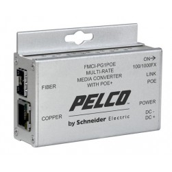 Pelco FMCI-PF1POE Single Channel 100 Mbps Media Converter, Power Over Ethernet