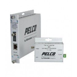 Pelco FMCI-BF1SM1ST 1 Channel Single Mode Fiber Media Converter-B, ST Connector