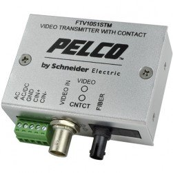 Pelco FTV10S1STM Miniature 1-Channel Fiber Transmitter with ST Connector, Multi-Mode