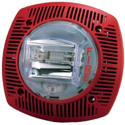 Bosch G-SSPK24WLPR Multi-Candela Wall-Mount Speaker Strobe - Red FIRE