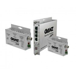 Ganz GLFE4EOC 4-Ch 15W Ethernet over COAX Extender w/Pass-Through PoE
