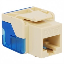 ICC IC1078E5AL CAT 5e EZ Keystone Jack, Almond