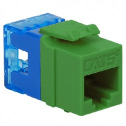 ICC IC1078F5GN HD CAT 5e Keystone Jack, Green