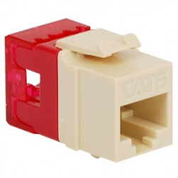 ICC IC1078F6AL HD CAT 6 Keystone Jack, Almond