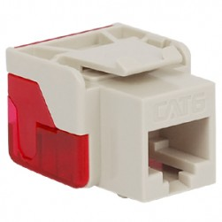 ICC IC1078L6WH EZ CAT 6 Keystone Jack, White