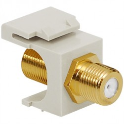 ICC IC107B5GWH Gold Plated F-Type Female To Female Module White