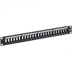 ICC IC107BP241 24-Port HD Flush Mount Blank Patch Panel, 1 RMS