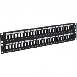 ICC IC107BP482 48-Port HD Flush Mount Blank Patch Panel, 2 RMS