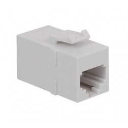 ICC IC107C6RWH RJ-11/14/25 6P6C Coupler, White