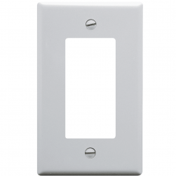 ICC IC107DFSWH 1-Gang Decorex Faceplate - White