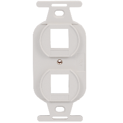 ICC IC107DPIWH 2-Port Electrical Insert White